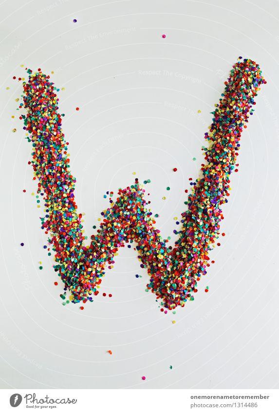 W wie: WWW Kunst ästhetisch Buchstaben Typographie Kreativität Design Designwerkstatt Designmuseum Konfetti mehrfarbig Punkt Farbfoto Innenaufnahme Experiment