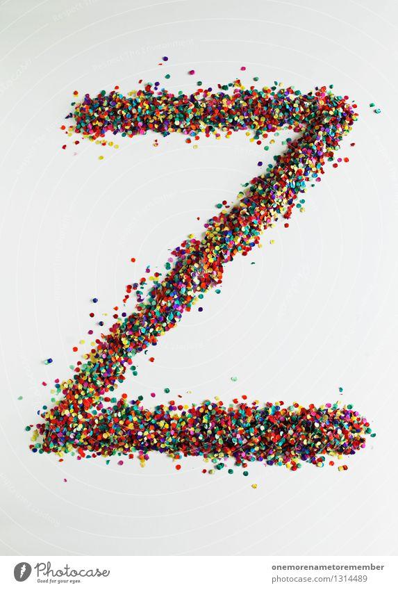 Z wie: DesignZorro Kunst Kunstwerk ästhetisch z Buchstaben Typographie Kreativität Designwerkstatt Designmuseum Konfetti mehrfarbig viele Punkt gestalten