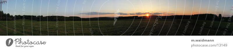 so schön ist deutschland im panorama Sonne Wolken Wiese Gras Berge u. Gebirge Feld Abenddämmerung