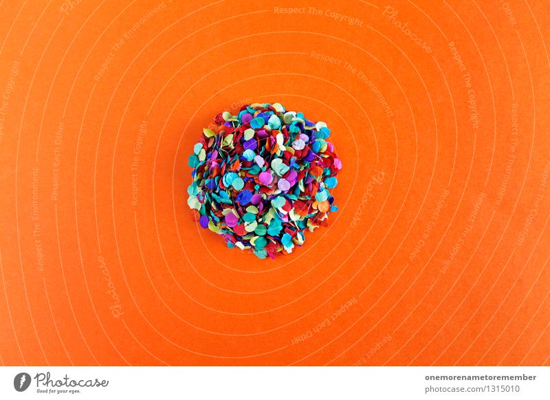 ... an diesem großen Runden vorbei rot Kunst Erde orange Design Zufriedenheit ästhetisch Kreativität Kreis Punkt viele Kugel Kunstwerk Konfetti Farbfleck