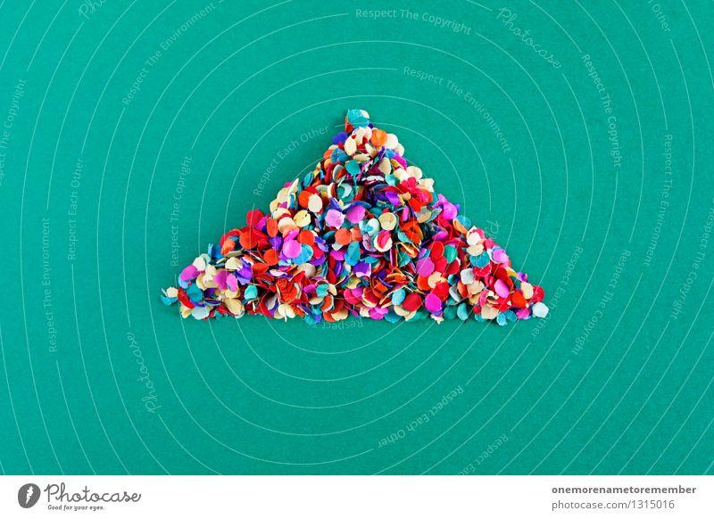 ... und da bei dem Haus Kunst Kunstwerk ästhetisch Dreieck Konfetti viele Punkt Kreativität Design Designwerkstatt Designmuseum Dach gestalten Farbfoto