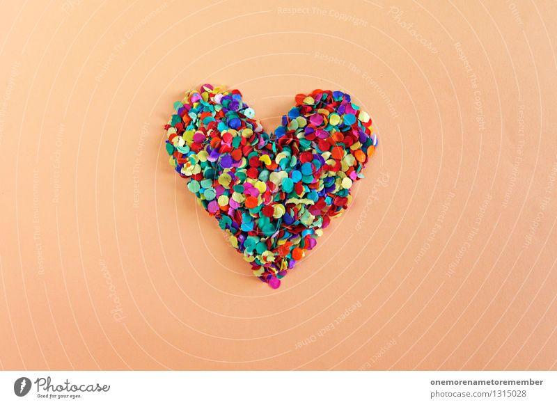 DesignerHerz Liebe Spielen Kunst Kindheit ästhetisch Symbole & Metaphern Kunstwerk Liebeskummer Konfetti herzförmig Liebeserklärung Liebesbekundung gebastelt