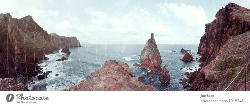 Blick von Maderas Küste auf den atlantischen Ozean Abenteuer Freiheit Expedition Berge u. Gebirge wandern Natur Landschaft Wolken Vulkan dunkel Farbfoto