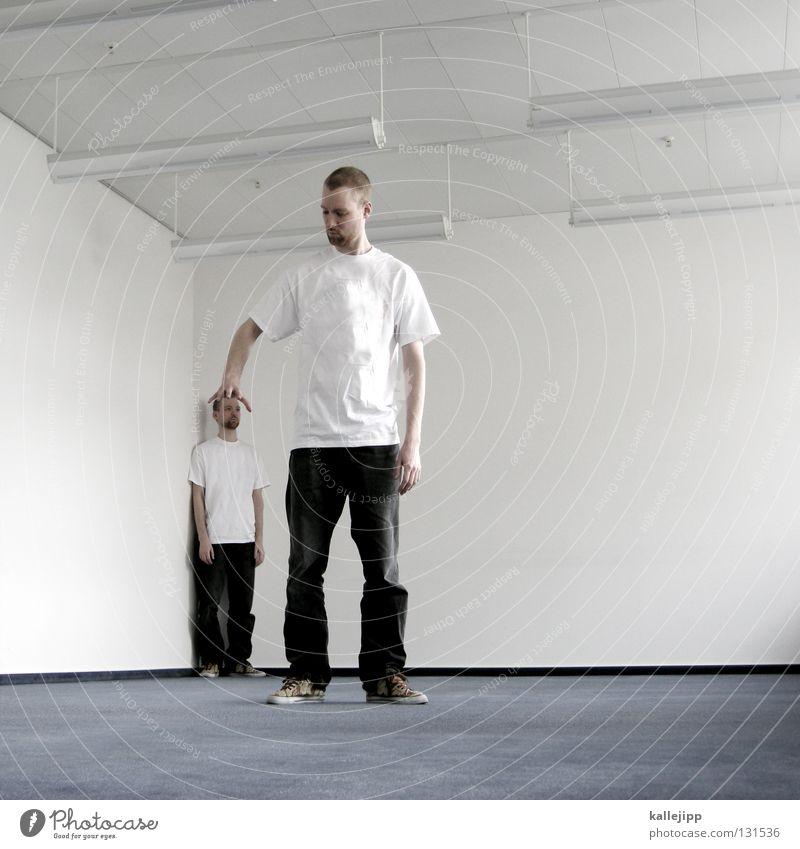 mobbing Mensch Mann Familie & Verwandtschaft klein Paar Arbeit & Erwerbstätigkeit Zusammensein Büro Raum Lifestyle groß Erfolg Wachstum paarweise Zukunft Kreativität