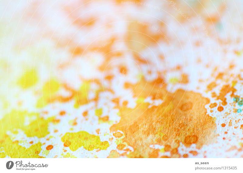 Sommerlich Wellness Leben harmonisch Freizeit & Hobby Basteln heimwerken malerisch malen Kunst Maler Papier Tusche Aquarell leuchten ästhetisch Fröhlichkeit