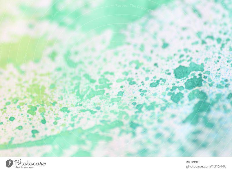 Grüntürkis Wellness Leben harmonisch Freizeit & Hobby Basteln selbstgemacht Kunst Maler Kunstwerk Gemälde Kultur Frühling Sommer Papier Pinsel leuchten
