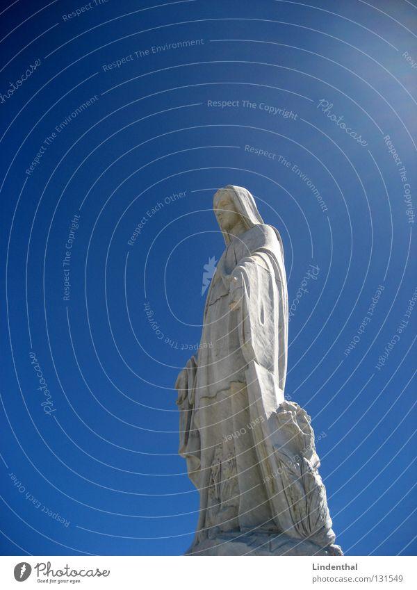 MARIA Maria heilig Götter Religion & Glaube Statue Denkmal historisch Himmel Gott holy god blau Lichterscheinung