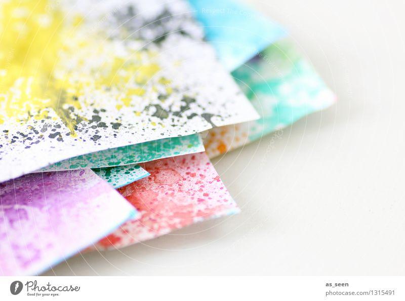 Aquarellpapier Farbe ruhig gelb Stil Kunst hell Design Zufriedenheit Freizeit & Hobby ästhetisch Kreativität Idee einzigartig Papier malen Jugendkultur