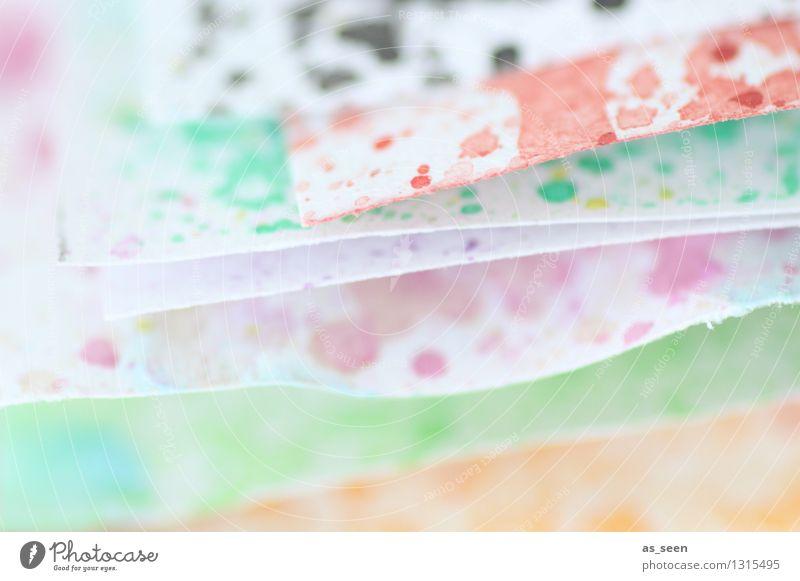 Aquarellpapier Farbe ruhig Bewegung Kunst hell liegen Freizeit & Hobby leuchten Dekoration & Verzierung ästhetisch Kreativität Papier malen Wellness Konzentration trendy