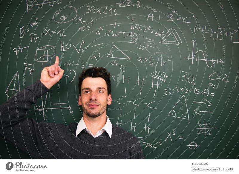 Durchblick Mensch Jugendliche Mann Junger Mann Freude Erwachsene Leben Lifestyle Schule Business maskulin Zufriedenheit Erfolg lernen Studium Bildung