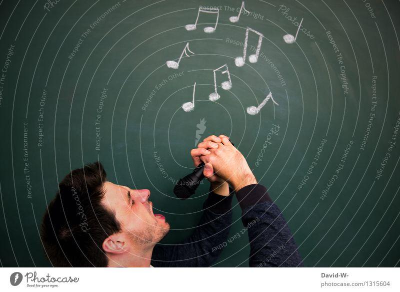 Künstler Lifestyle elegant Freizeit & Hobby Mensch maskulin Junger Mann Jugendliche Erwachsene Leben Kopf 1 18-30 Jahre Kunst Kultur Show Musik Musik hören