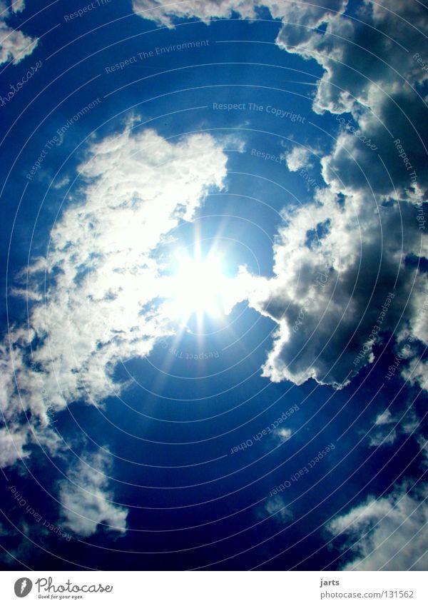Sonnenlicht Himmel blau Sommer Sonne Wolken Hoffnung Sonnenenergie Himmelskörper & Weltall Erneuerbare Energie