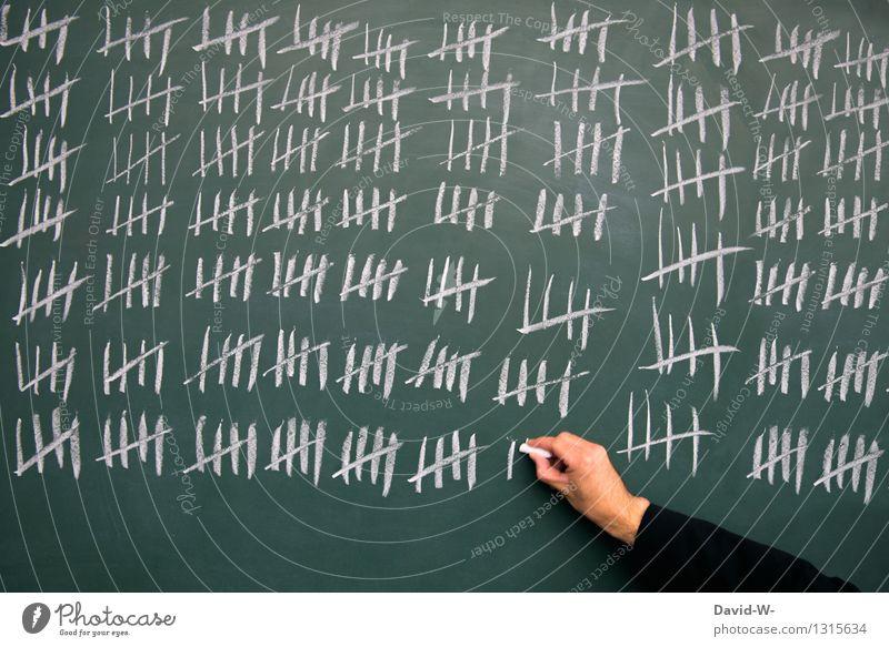zählen Bildung Schule lernen Tafel Schüler Student Business Mensch maskulin Mann Erwachsene Leben Hand zeichnen schreiben warten Unendlichkeit verrückt