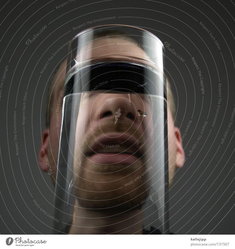 wassermann Mensch Mann Wasser Gesicht lachen Lifestyle Getränk Mund Nase Suche Lippen Bart Alkohol Alkoholisiert Seele Comic