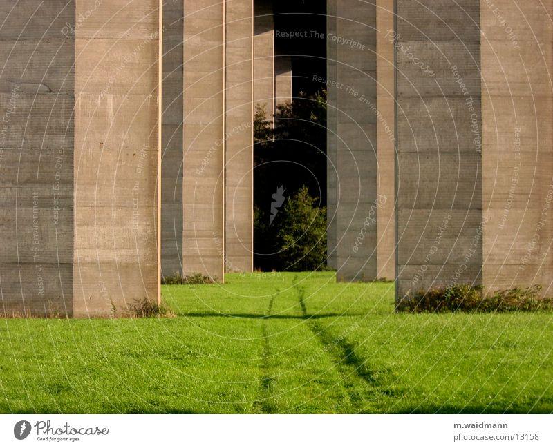 bäume aus beton 1 Beton Säule Wiese Feld Spuren Baum Brücke Wege & Pfade