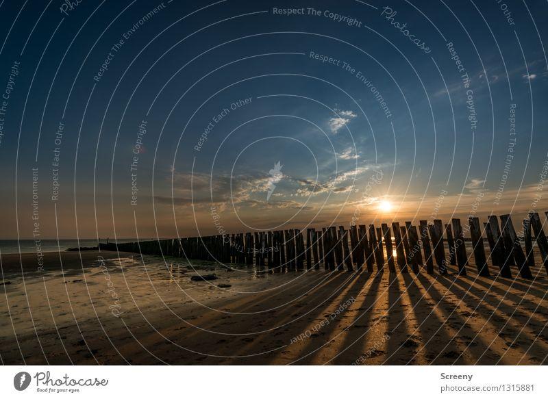 Tschüss, Sonne... Himmel Natur Ferien & Urlaub & Reisen Pflanze Sommer Wasser Meer Landschaft ruhig Wolken Ferne Strand Küste Stimmung Tourismus