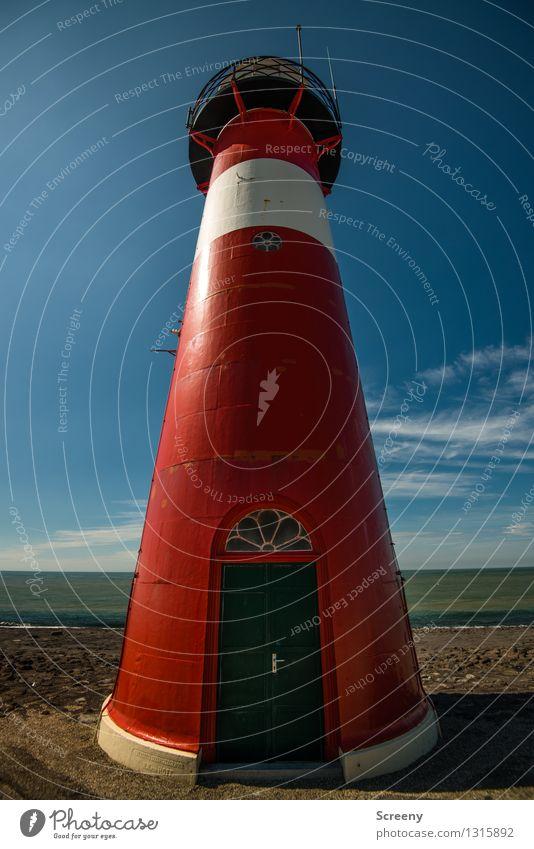 Mit Oberstübchen Himmel Ferien & Urlaub & Reisen blau Sommer weiß Meer rot Landschaft Ferne Strand Küste braun Tourismus Wellen hoch Kommunizieren