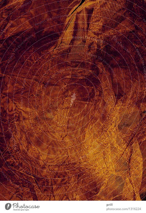 crinkly background Wärme Stoff Netz braun Qualität Irritation Hintergrundbild Falte bio gewebt rustikal Textilien durcheinander orange formatfüllend struktur