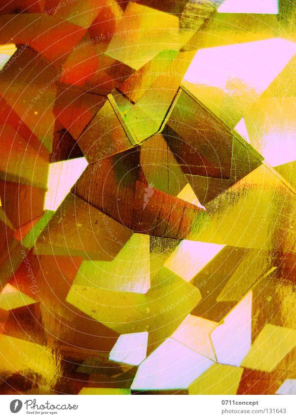 Mosaikkristalle Licht Hintergrundbild glänzend Kostbarkeit Lichtgeschwindigkeit Anordnung Muster Lichteinfall Glut Richtung Farbe Kristallstrukturen shine gold