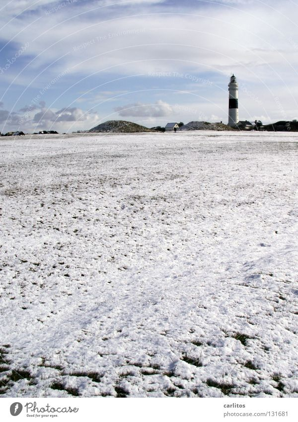 Inselwinter II Himmel blau weiß rot Meer Strand Winter Ferne Schnee Freiheit Sand Küste Luft Lampe Wasserfahrzeug Wind