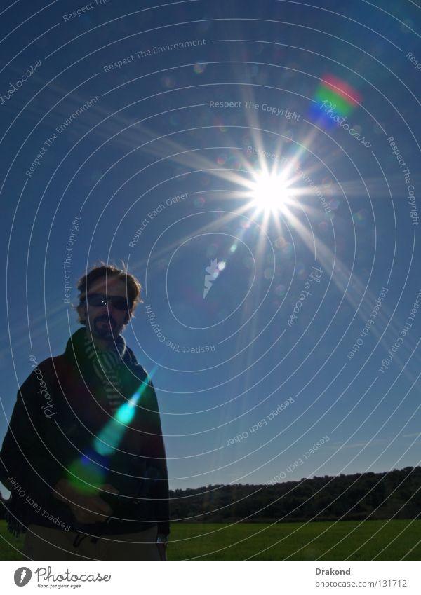 Blenden Mensch Mann Himmel Sonne Sommer Winter ruhig springen Frühling Glück Wärme Landschaft hell Physik Klarheit Wohlgefühl