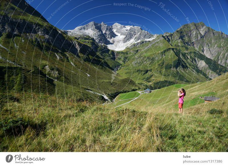 Anna sieht fern 2 Ferien & Urlaub & Reisen Sommer Sommerurlaub Berge u. Gebirge wandern Umwelt Natur Landschaft Wolkenloser Himmel Klima Wetter Schönes Wetter