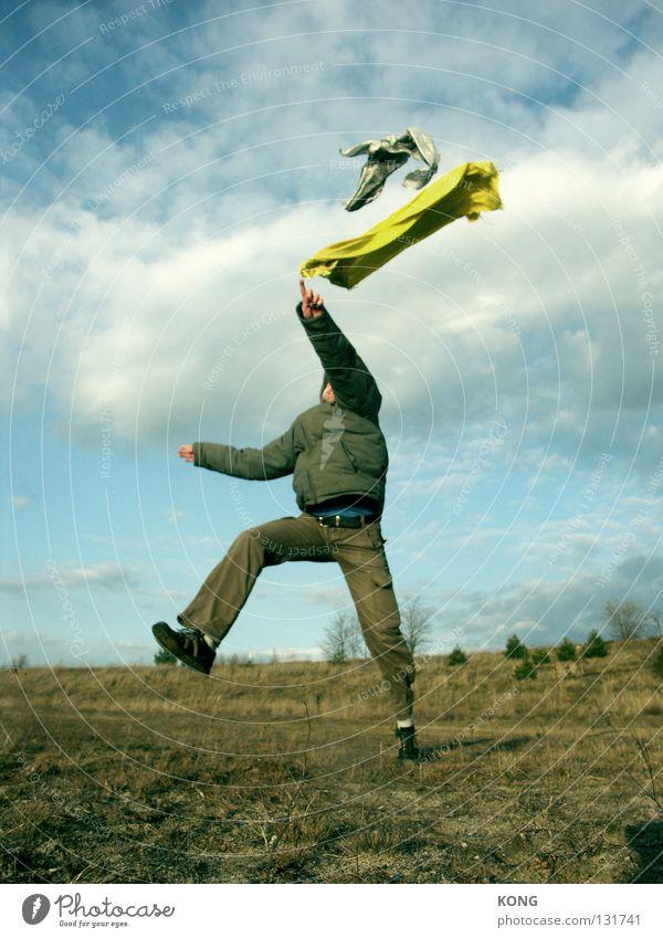 textilmalerei Textilien Stoff Schneider Schweben Flugzeug Luft luftig flattern Geister u. Gespenster Wolken schlechtes Wetter gefroren Momentaufnahme springen