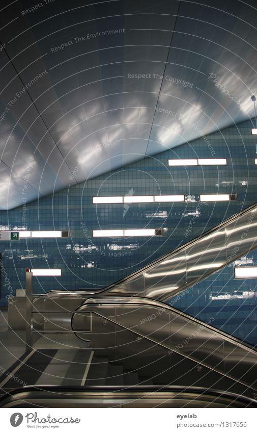 Je schneller desto streif Technik & Technologie Energiewirtschaft Hauptstadt Stadtzentrum Menschenleer Haus Bahnhof Tunnel Bauwerk Gebäude Architektur Mauer