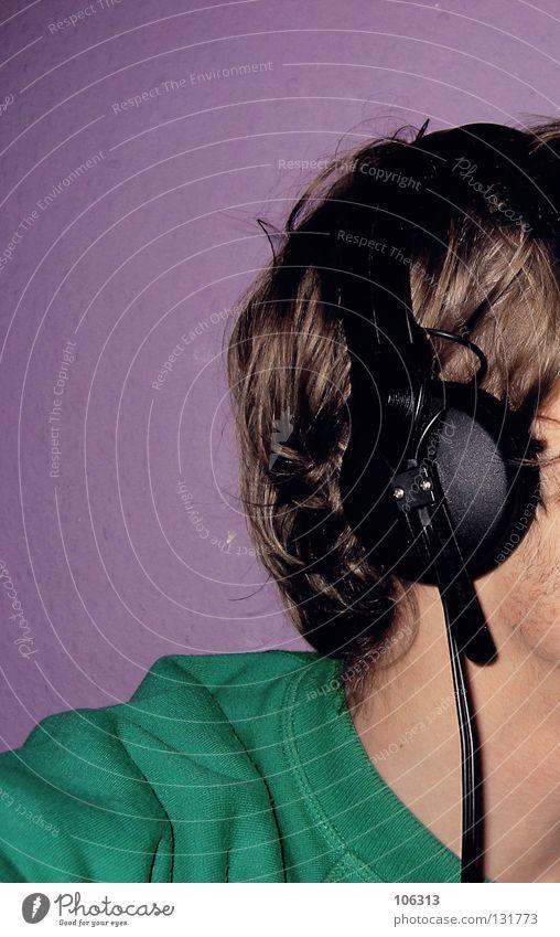 MUSIC IS LIFE [REV.] Richtung Seite Club Wand bescheiden Erholung Stil Lifestyle elektronisch Arbeitsgeräte Handwerk Kopfhörer Schall ruhig Blick Konzentration