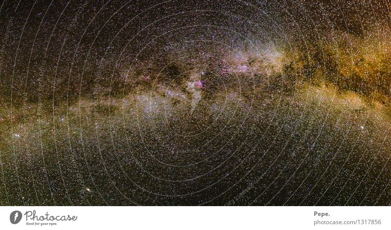 Milchstraße Sommer braun Horizont Erde Stern Weltall Nachthimmel