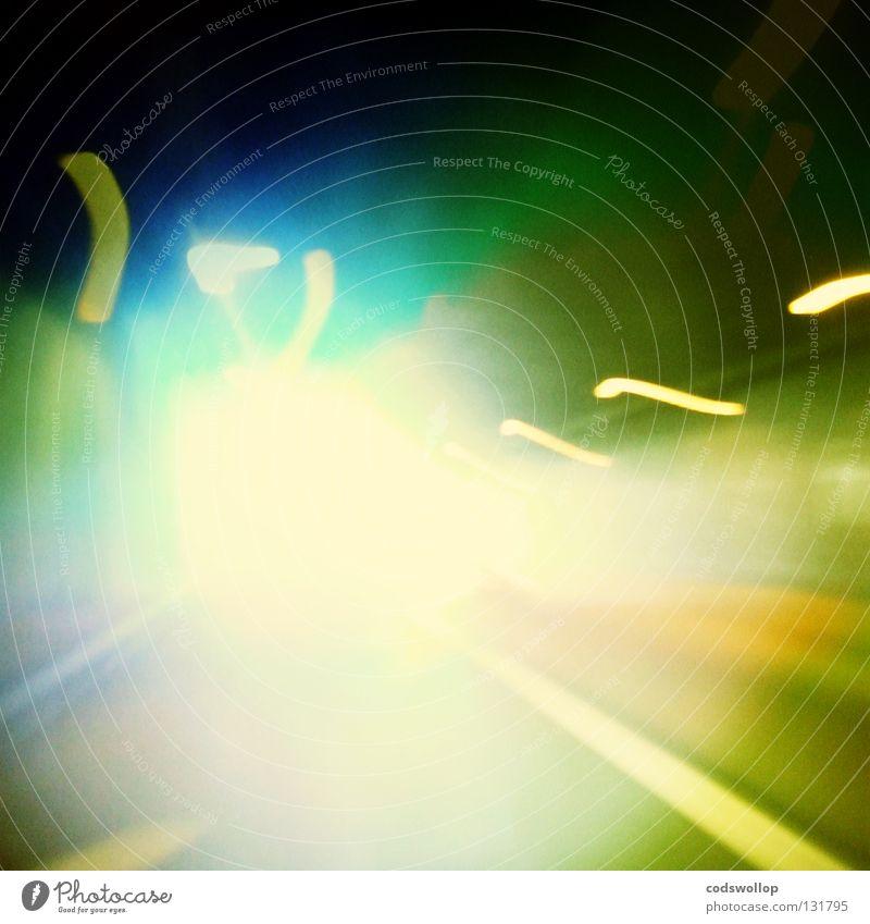 the light at the end of the tunnel Licht Tunnel Zeitreise Wurmloch Geschwindigkeit Autobahn Verkehr Flur obskur time travel wormhole idea Aussicht think