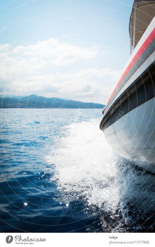 den Fotografen raushängen lassen Natur Ferien & Urlaub & Reisen blau Sommer Wasser Sonne Meer Freude Ferne Umwelt Lifestyle Freizeit & Hobby Perspektive