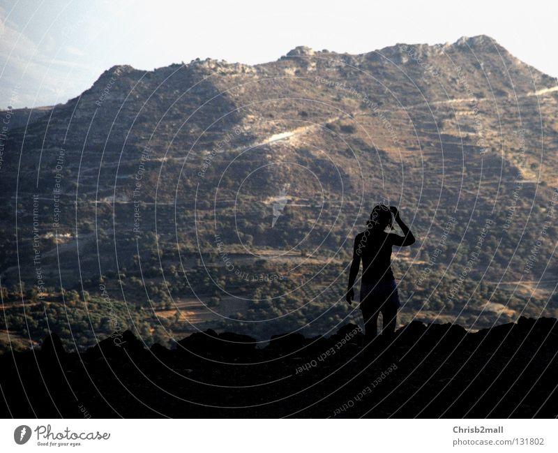 Unbelievable Frau Ferne Berge u. Gebirge träumen groß Aussicht staunen faszinierend demütig