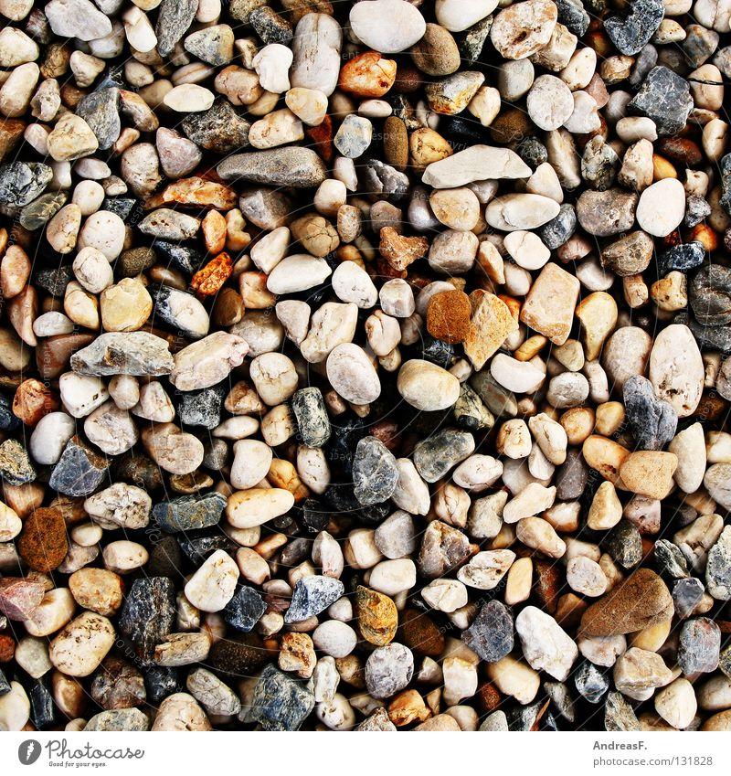 Kieselsteine steinig hart Steinweg Muster Strand körnig grobkörnig Schotterweg mehrere Hintergrundbild Küste Dekoration & Verzierung Mineralien stones