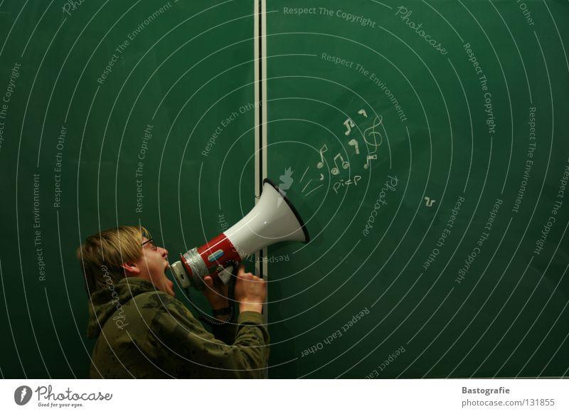 Schrei mit kleinem piep Freude Bildung ruhig Musik Schule Schilder & Markierungen Ohr Körperhaltung streichen schreien Konzert hören zeichnen Kino Kreativität