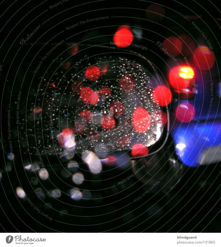 Leaving The Red-Light District Wasser weiß blau rot Ferien & Urlaub & Reisen gelb Straße Lampe dunkel Bewegung grau PKW Regen Linie hell Wassertropfen