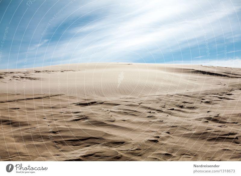 Sand.... Ferien & Urlaub & Reisen Ferne Natur Landschaft Urelemente Himmel Wolken Klima Klimawandel Schönes Wetter Wüste blau braun Ewigkeit Unendlichkeit