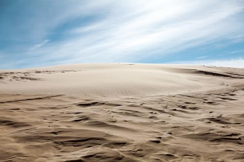 Sand.... Himmel Natur Ferien & Urlaub & Reisen blau Landschaft Wolken Ferne Hintergrundbild braun Horizont Klima Schönes Wetter Urelemente Ewigkeit