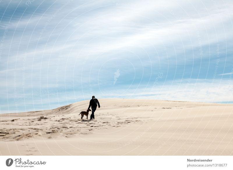 Unterwegs.... Ferien & Urlaub & Reisen Ausflug Abenteuer Ferne wandern Mensch maskulin Junge Frau Jugendliche Mann Erwachsene 1 Natur Landschaft Urelemente Sand