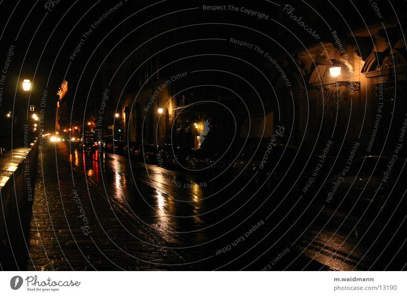 in den straßen von florenz Florenz Italien Licht Reflexion & Spiegelung Verkehr Straße Regen