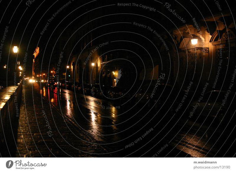 in den straßen von florenz Straße Regen Verkehr Italien Toskana Florenz