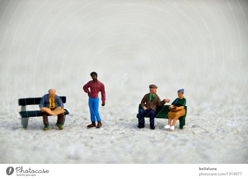 Miteinander Mensch Frau Jugendliche Mann Junger Mann 18-30 Jahre Erwachsene Leben Senior sprechen feminin Menschengruppe Zusammensein maskulin stehen sitzen