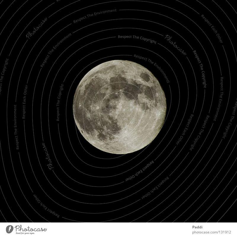 Wo wohnt der Mann im Mond? Himmel schwarz träumen Weltall Schönes Wetter Himmelskörper & Weltall Vollmond Mondschein Vulkankrater NASA