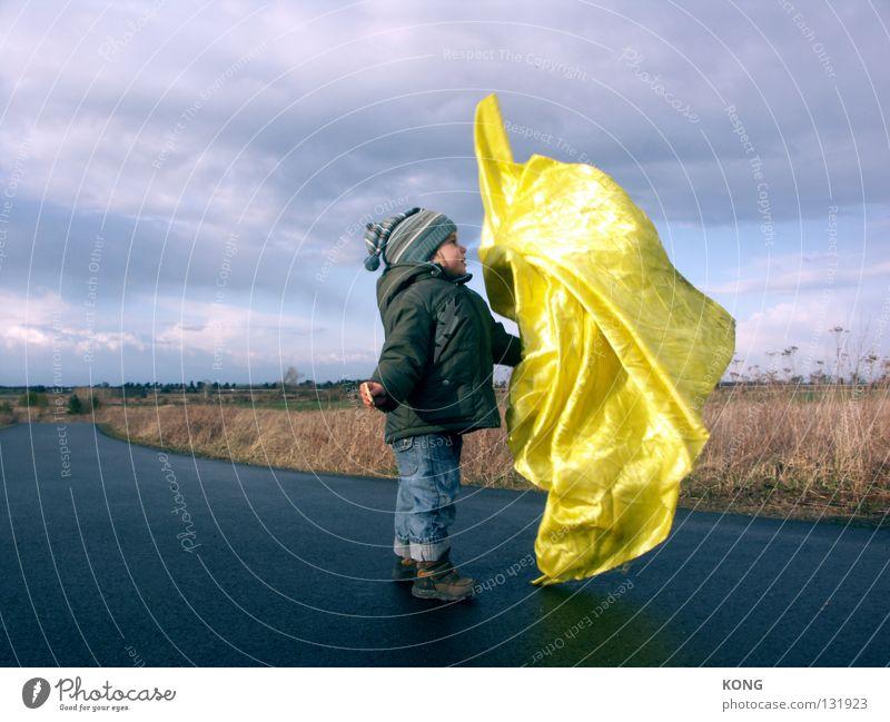 nice to meet you Textilien Stoff Schneider Schweben Luft luftig flattern Geister u. Gespenster Wolken schlechtes Wetter gefroren Momentaufnahme klein Zwerg Kind