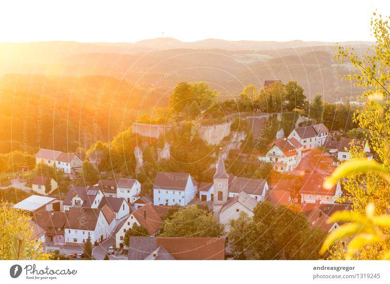 Burg, Licht, Stein Natur Ferien & Urlaub & Reisen Sommer Sonne Erholung Landschaft Ferne Berge u. Gebirge Frühling Herbst Felsen Horizont Freizeit & Hobby
