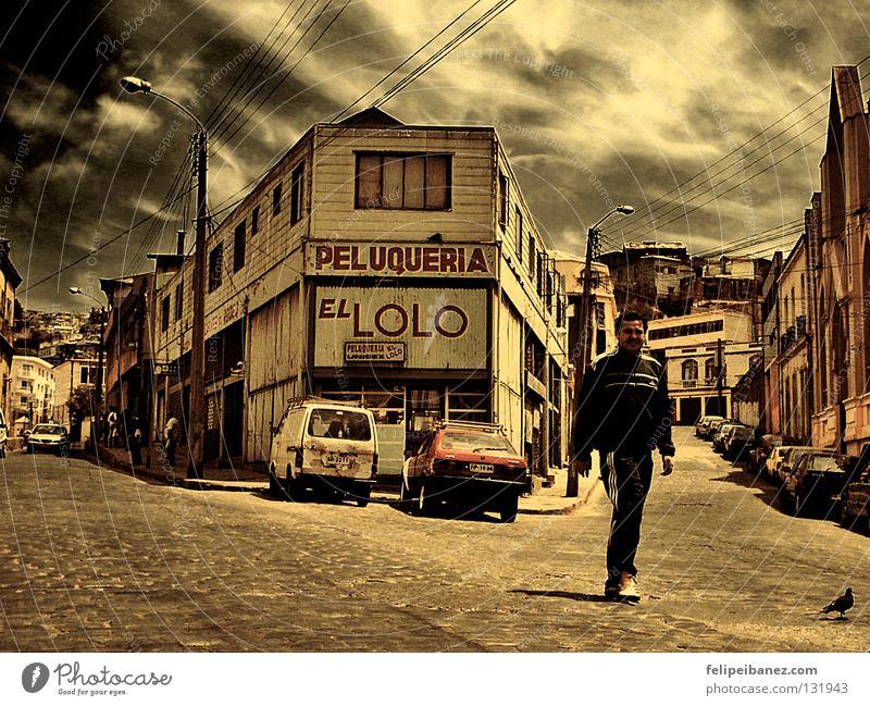 """Peluqueria """"El Lolo"""" Himmel Farbe Elbe Chile Südamerika Valparaíso"""