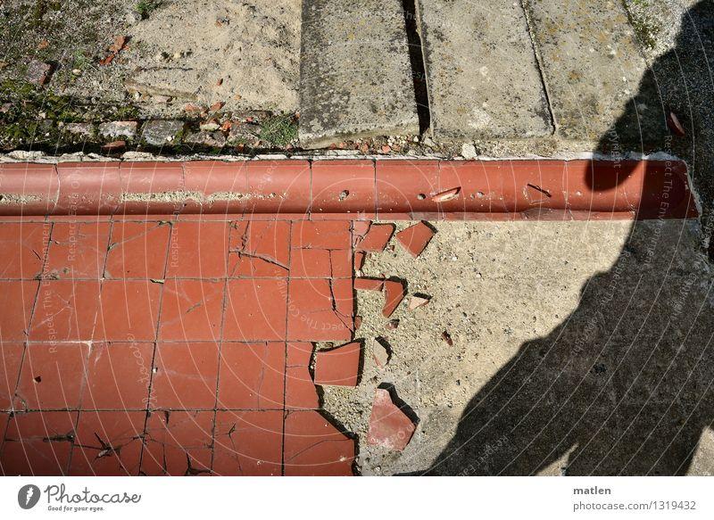 selfie maskulin Körper 1 Mensch Industrieanlage Ruine Stein Beton Backstein braun rot schwarz Fotograf Fliesen u. Kacheln Holzbrett Selfie Farbfoto