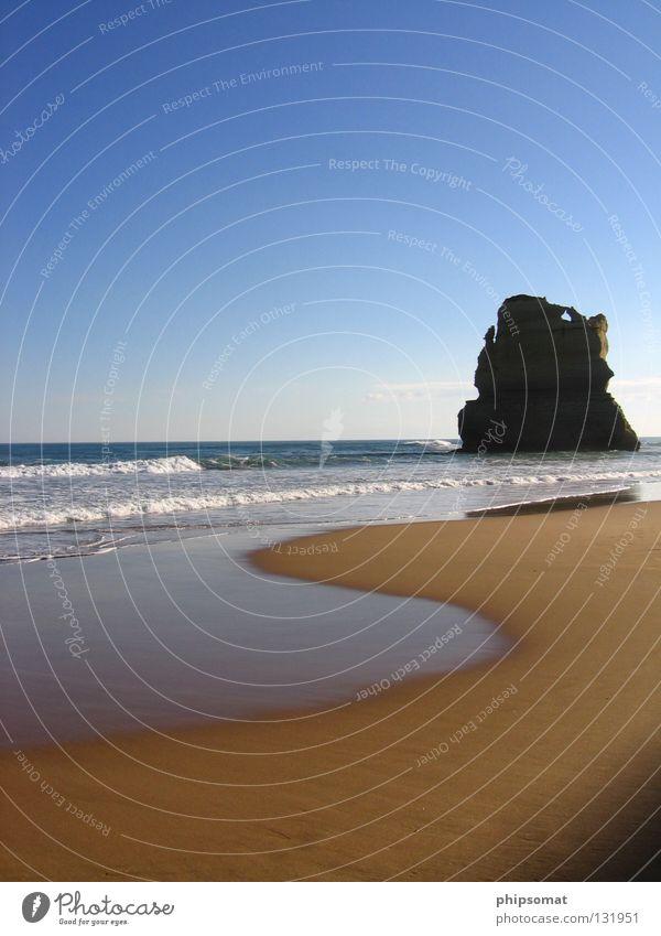 One Apostle Himmel Strand Erholung Felsen Australien Blauer Himmel Melbourne Great Ocean Road