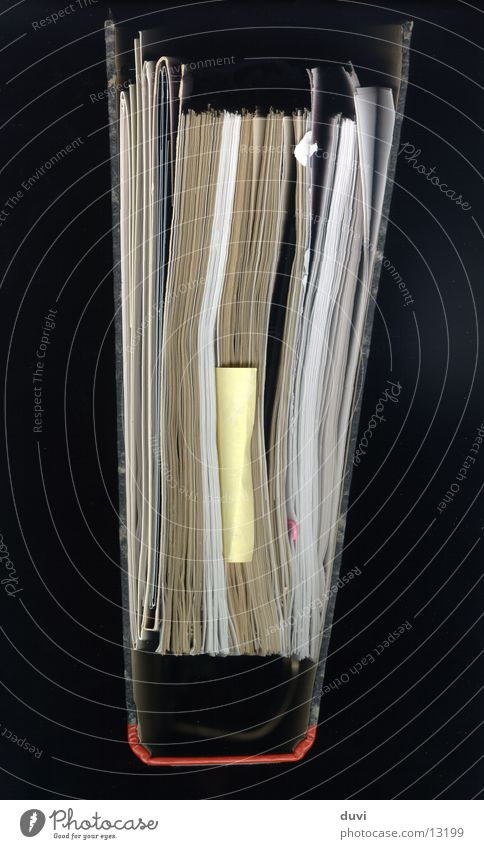 Blattsammlung Papier Dinge Aktenordner