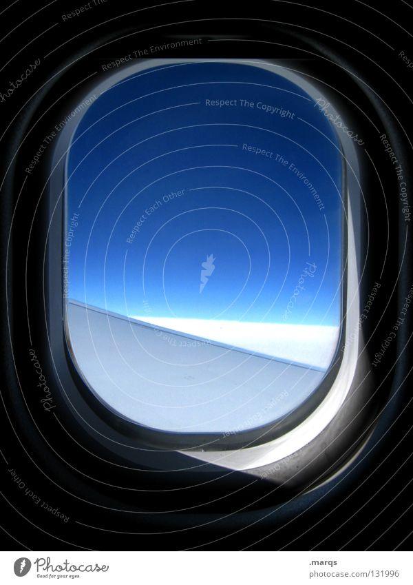 Last Minute Stil Design Freizeit & Hobby Ferien & Urlaub & Reisen Ferne Freiheit Sommerurlaub Pilot Luftverkehr Himmel Fenster Verkehr Verkehrsmittel Flugzeug